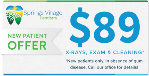 New Patient Offer: $89 X-Rays, Exam and Cleaning* (*New patients only. In absence of gum disease. Call our office for details!